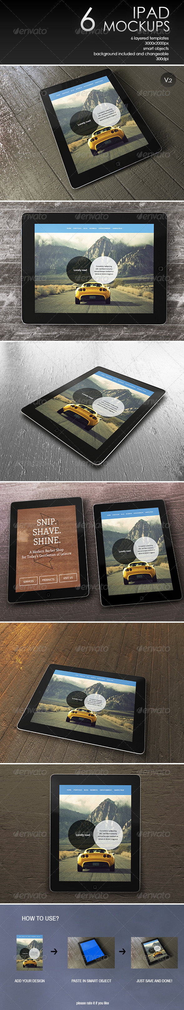 GraphicRiver iPad Mockup v.2 7692424
