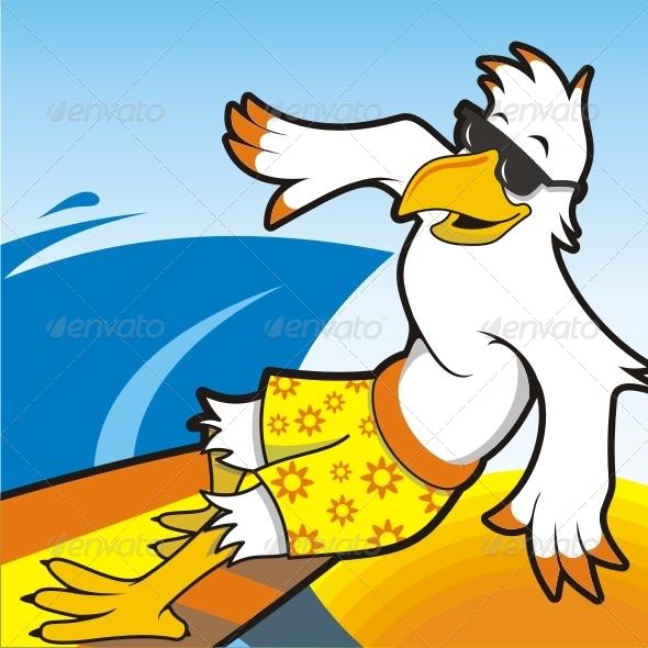 GraphicRiver Eagle Surfer Mascot 7692432