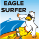 Eagle Surfer Mascot - GraphicRiver Item for Sale