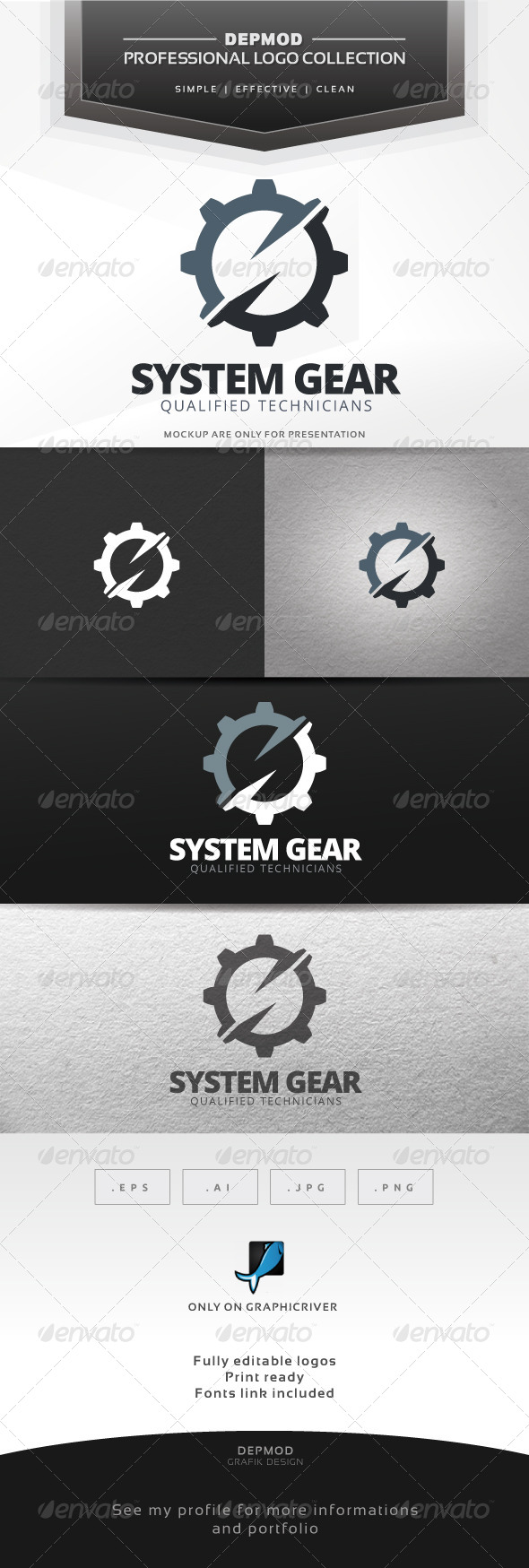 GraphicRiver System Gear Logo 7692435