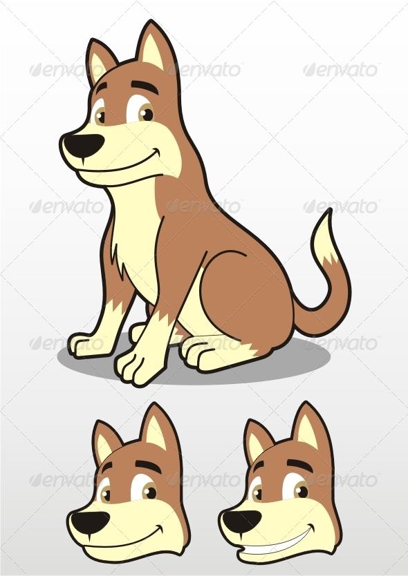 GraphicRiver Sitting Dog Illustration 7692438