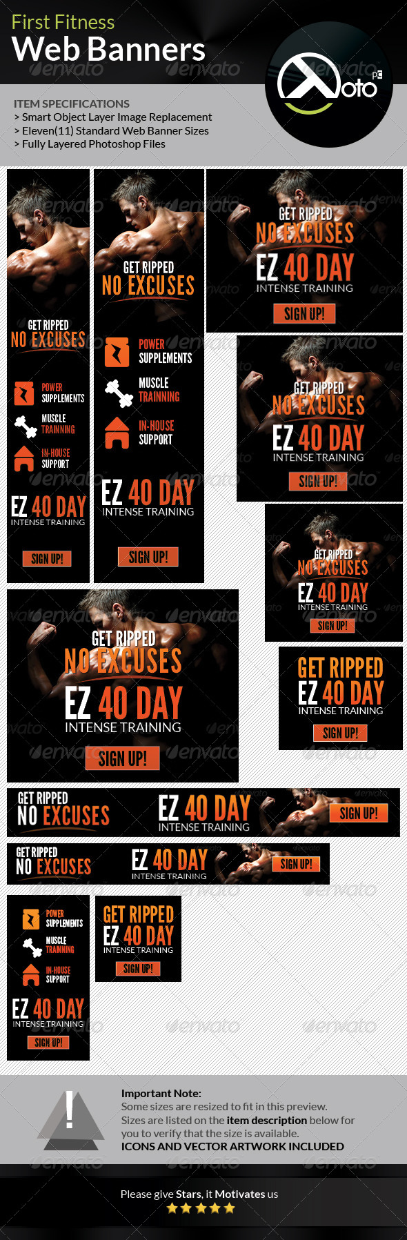 GraphicRiver First Fitness Body Weight Training Web Banners 7692472