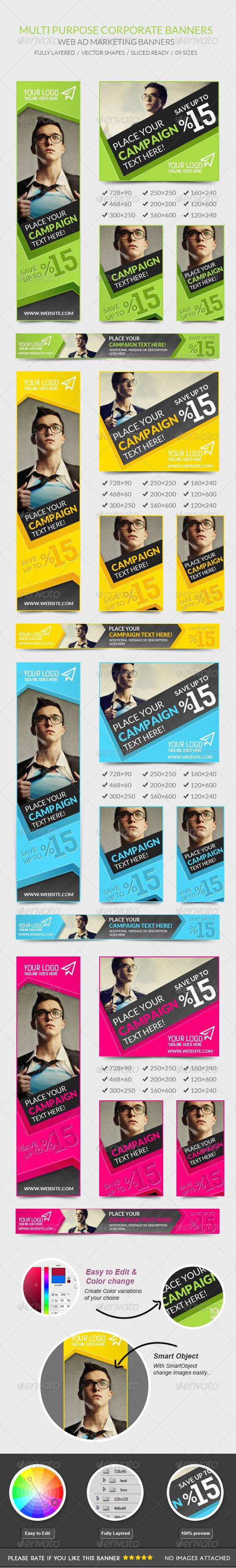 GraphicRiver Multipurpose Corporate Banners 7692940