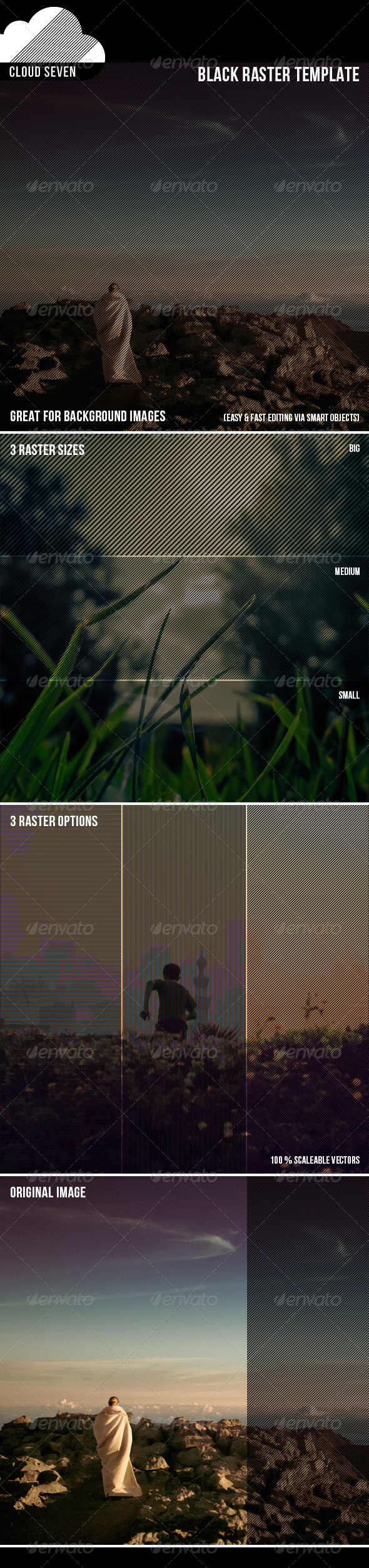 GraphicRiver Black Raster Template 7692942