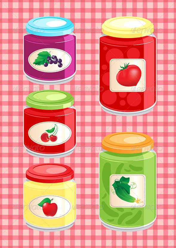 GraphicRiver Jams and Pickled Vegetables 7693082