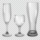 Set of Transparent Glass Goblets - GraphicRiver Item for Sale