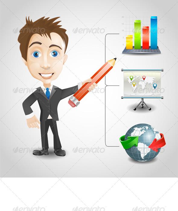 GraphicRiver Presentation Businessman 7693417