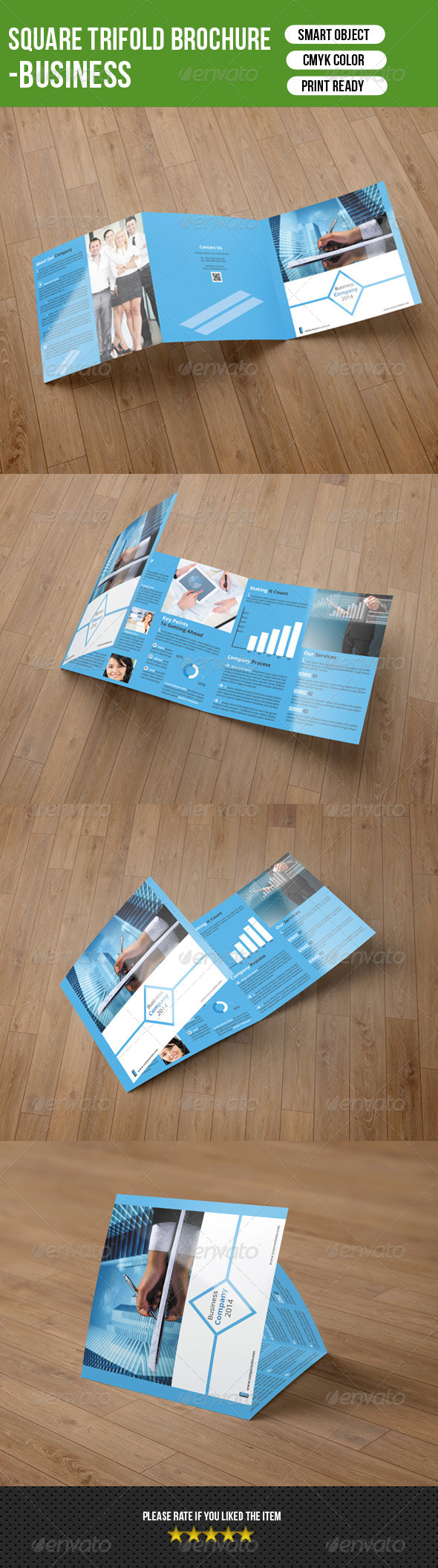 GraphicRiver Square Trifold Brochure-Business Vol-4 7693683