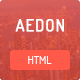 Aedon Responsive Creative HTML5 Template - ThemeForest Item for Sale