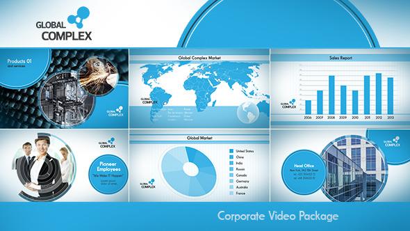 AE模板:简洁企业公司宣传片头 产品形象宣传推广 公司时间线模板Clean Corporate  免费下载