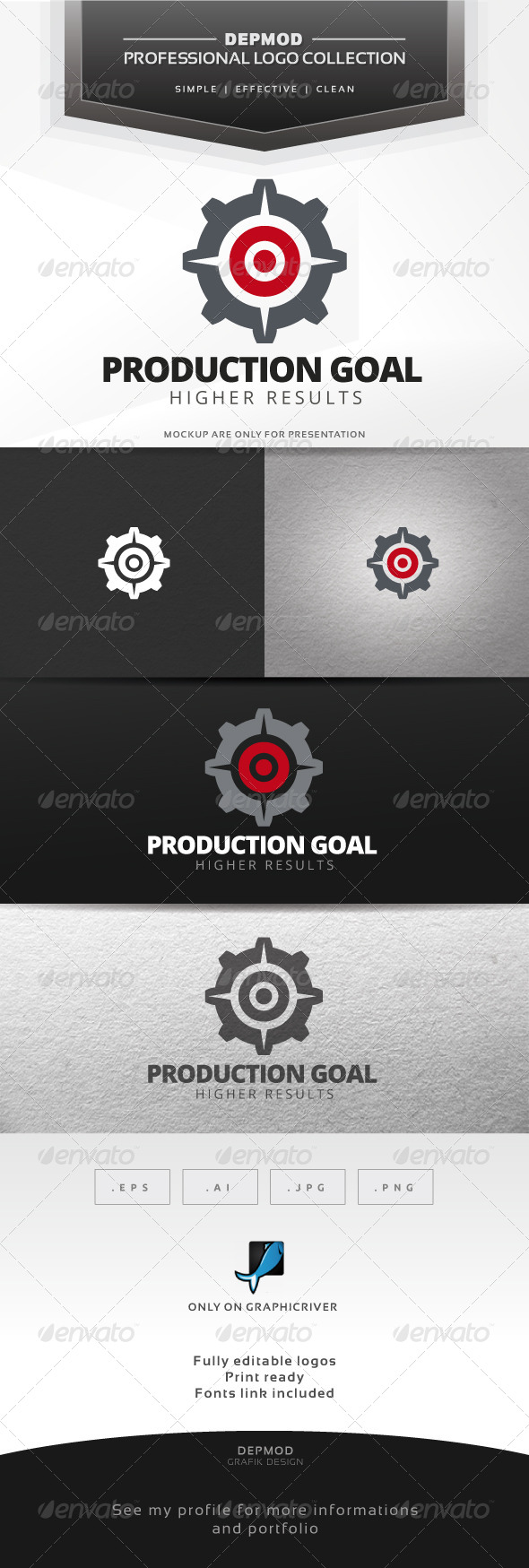 GraphicRiver Production Goal Logo 7694093