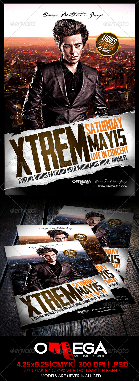 GraphicRiver Xtrem Live In Concert 7694524