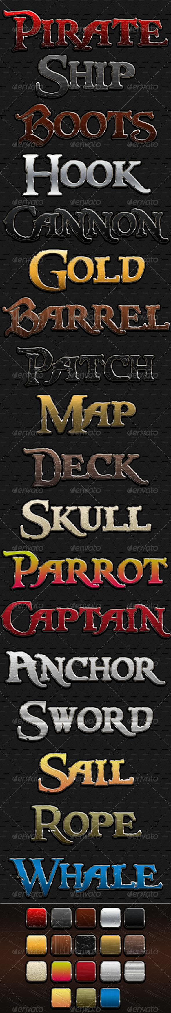 Pirate Style - Text Effects Actions