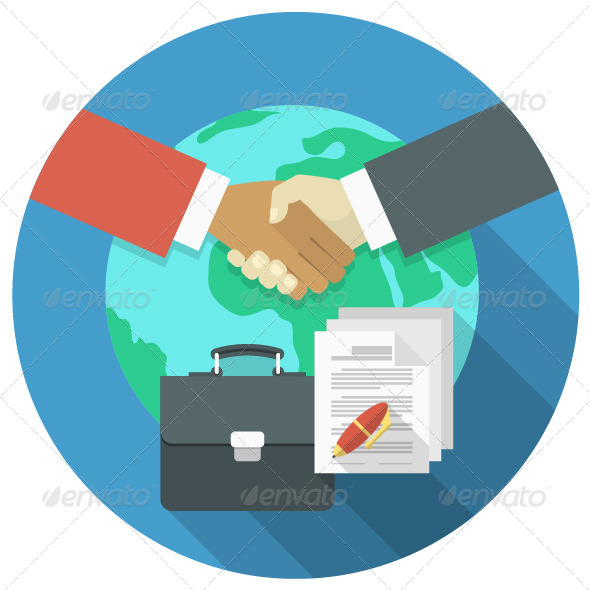 GraphicRiver International Business Cooperation Concept 7694944