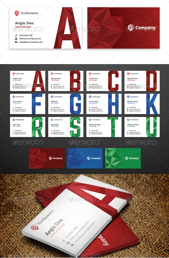 GraphicRiver Initial Business Cards 7607750