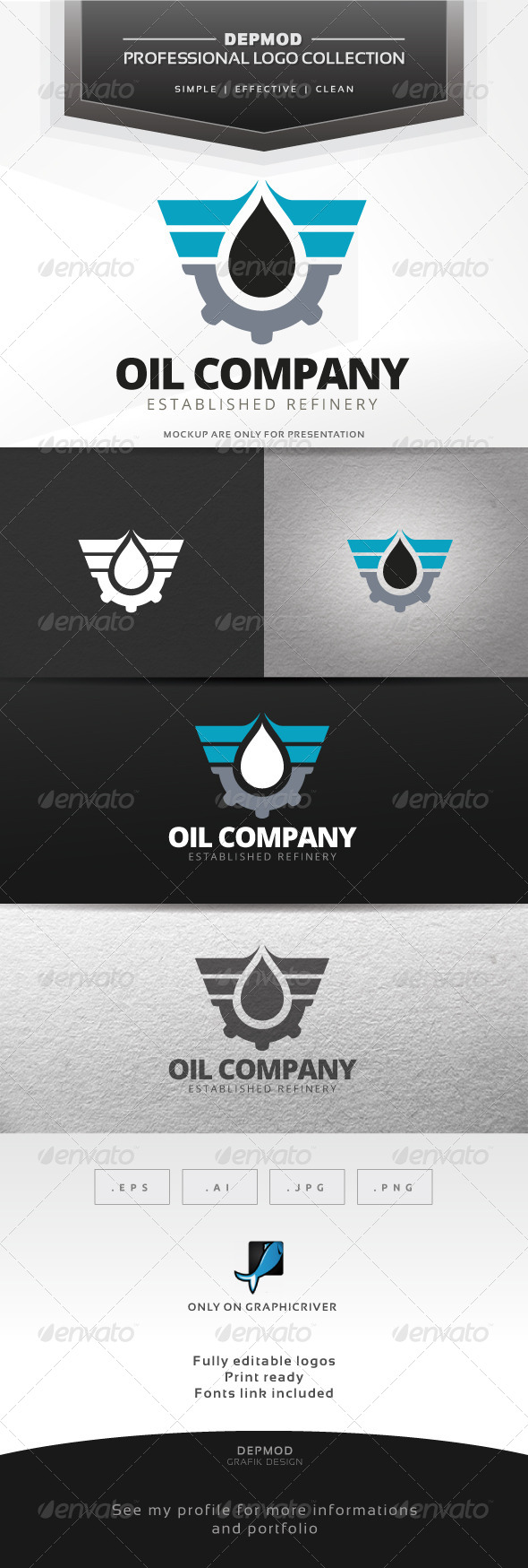 GraphicRiver Oil Company Logo 7695472