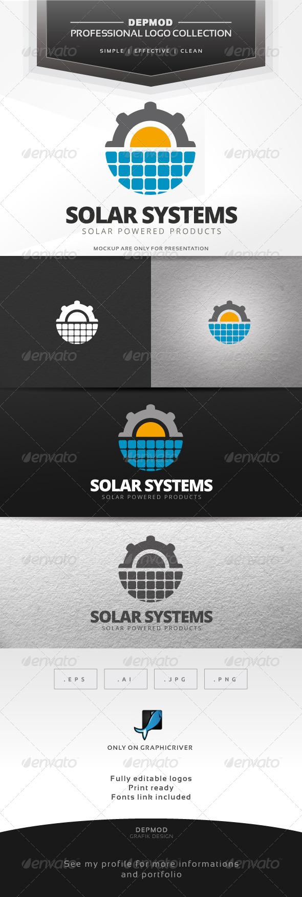 GraphicRiver Solar Systems Logo 7695483