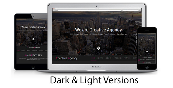 ThemeForest Creative Agency One Page Multipurpose Muse Template 7600640