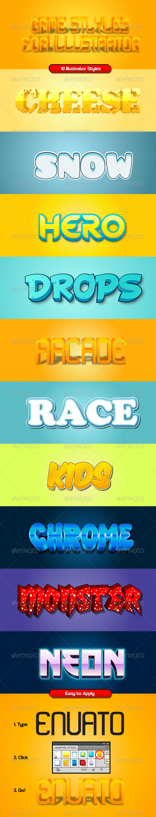 GraphicRiver Game Styles for Illustrator 7695918
