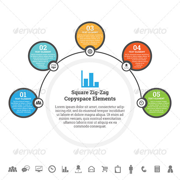 GraphicRiver Half Circle Point Infographic 7696016