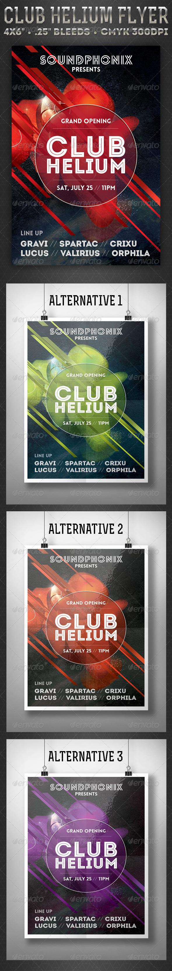 GraphicRiver Club Helium Flyer 7696039