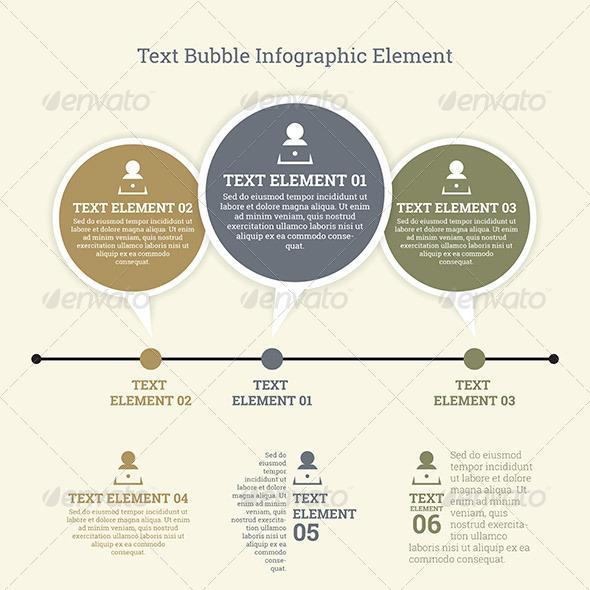 GraphicRiver Text Bubble Infographic Element 7696044