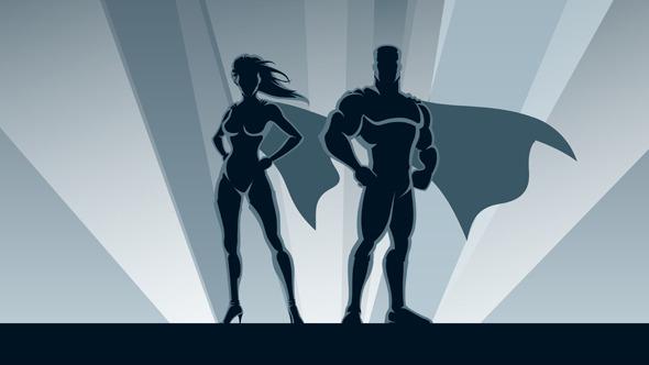 Superhero Couple Loop