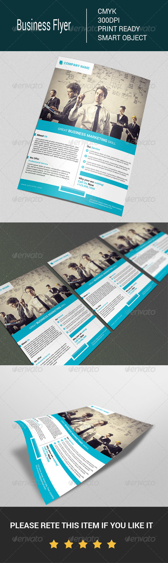 GraphicRiver Business Flyer Template 7675794