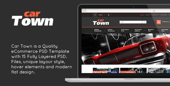 CarTown - eCommerce PSD Template Design - Shopping Retail