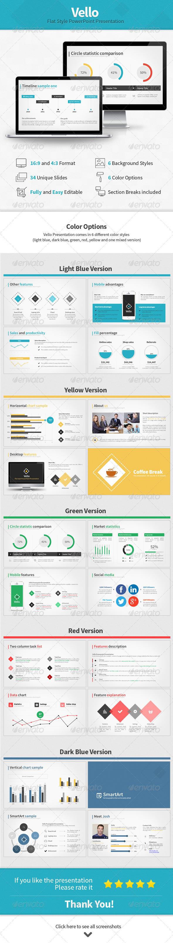 GraphicRiver Vello Flat Style Presentation 7696497