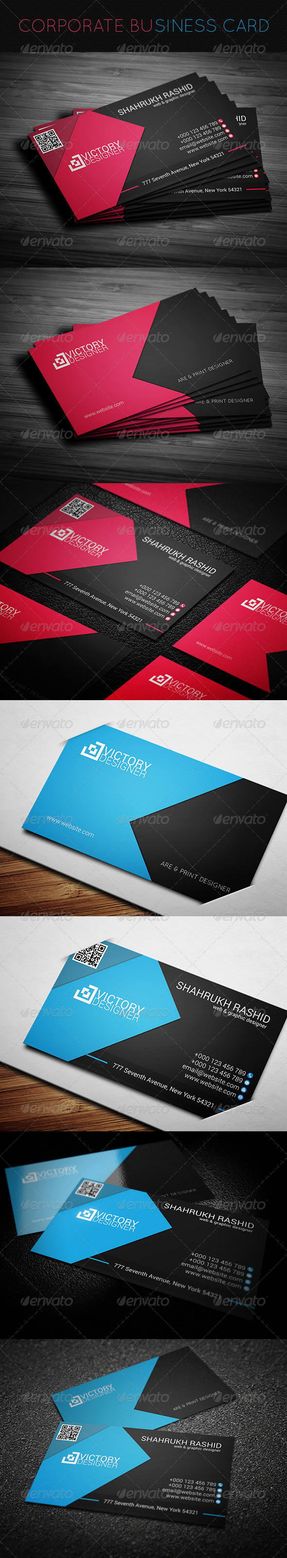 GraphicRiver Corporate Business Card 7696837
