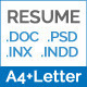 Resume / Cover Letter A4 and Us Letter Sizes - GraphicRiver Item for Sale