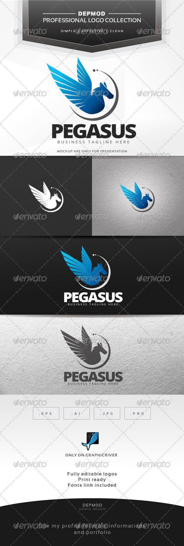 Pegasus Logo - Symbols Logo Templates