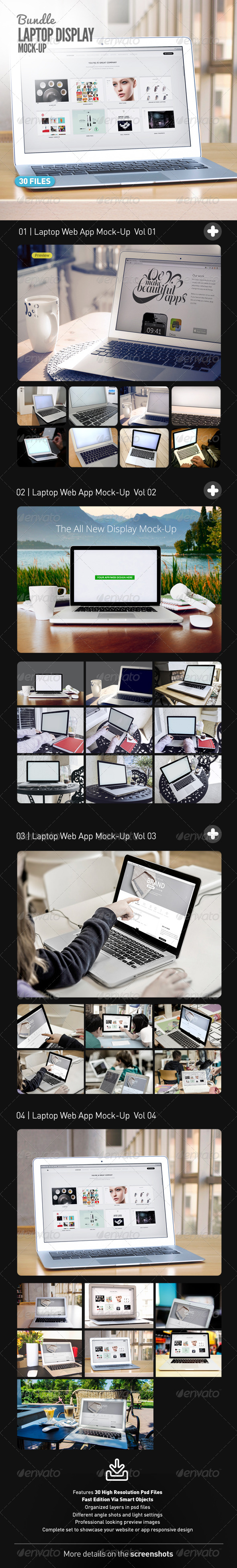 GraphicRiver Laptop Web App Mock-Up Bundle 7697268