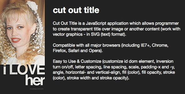 CodeCanyon Cut Out Title 7697554