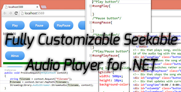 Seeakable Streamable NET Audio Player for HTML5