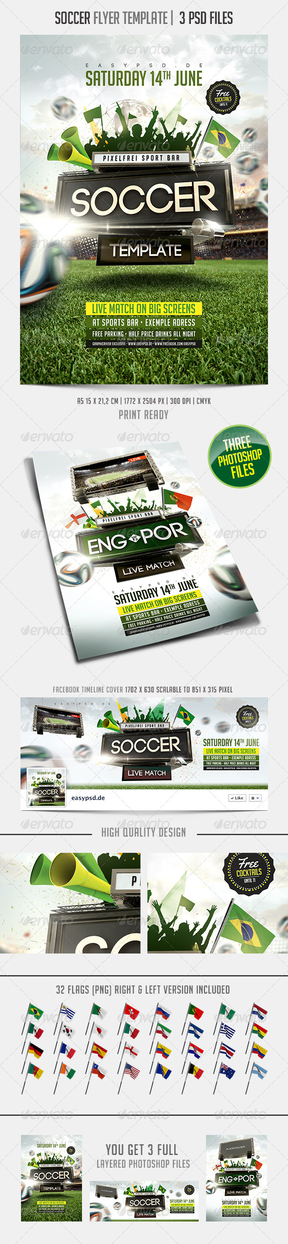 GraphicRiver Soccer Flyer Template 7676069