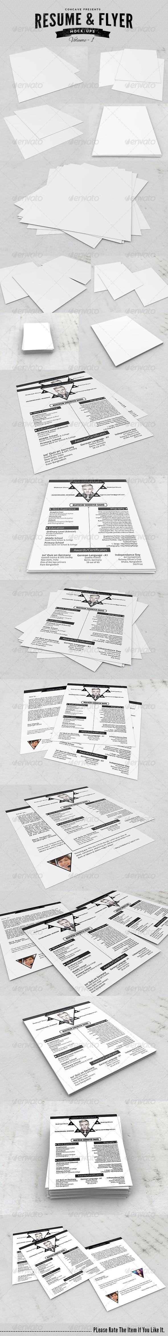 GraphicRiver Resume Flyer Poster Mockups 7698059