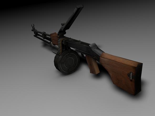 3DOcean RPD Machine Gun 7698187