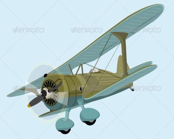 GraphicRiver The Old Plane Biplane 7698378
