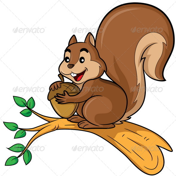 GraphicRiver Squirrel Cartoon 7699323