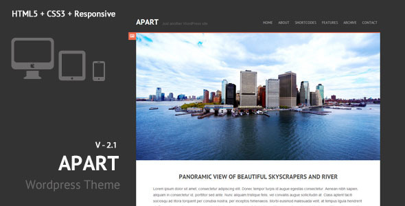 Apart - Responsive Wordpress Theme - Personal Blog / Magazine