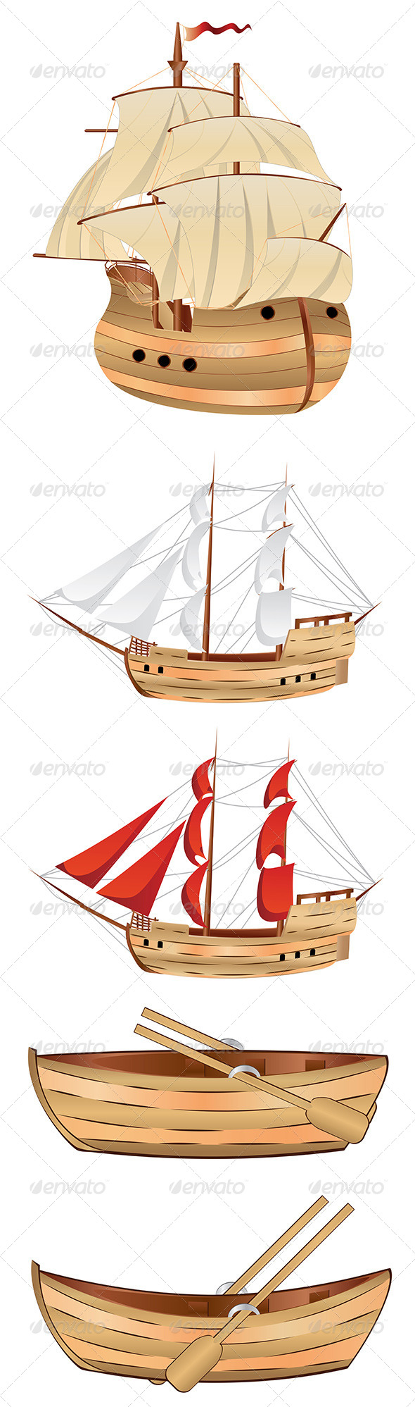GraphicRiver Old Sailing Ship 7699459