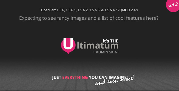 Ultimatum - Responsive OpenCart themes with blog