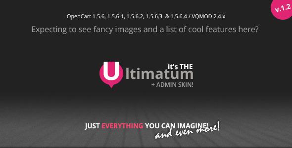 Ultimatum - Responsive OpenCart theme with blog