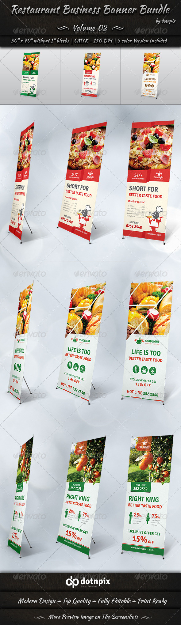 GraphicRiver Restaurant Business Banner Bundle Volume 2 7699923