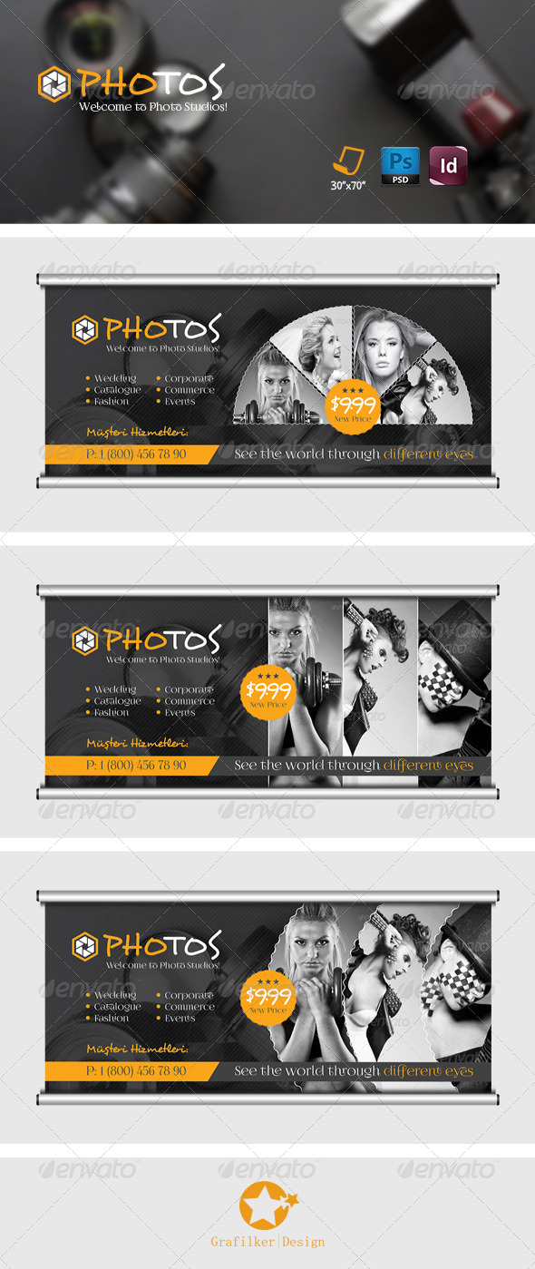 GraphicRiver Photography Billboard Templates 7699999