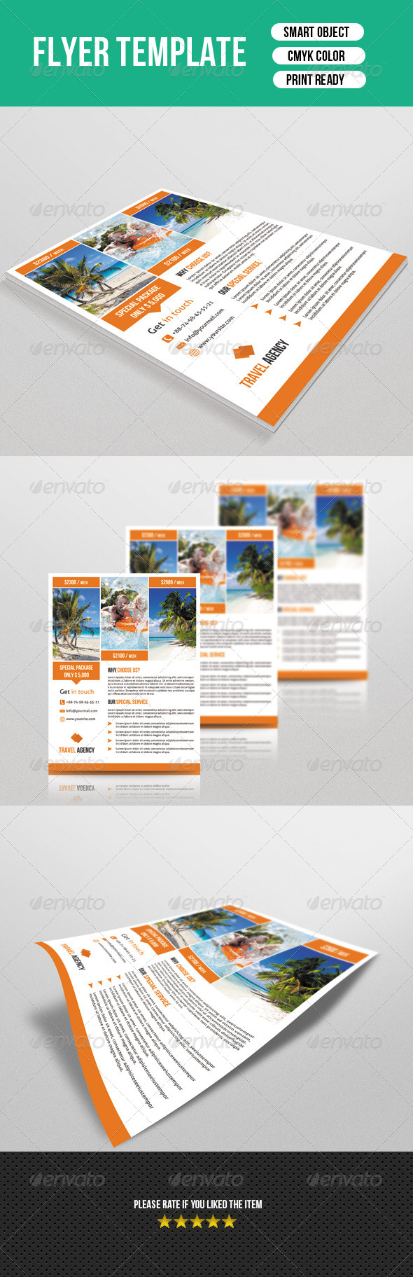GraphicRiver Travel Flyer Template 7700086