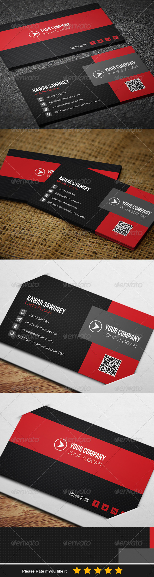 GraphicRiver Corporate Business Card 3 7700095