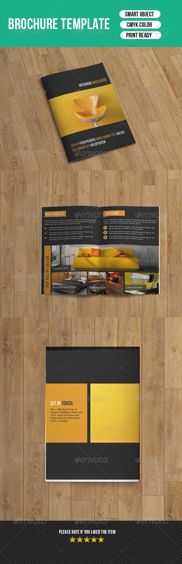 GraphicRiver Interior Brochure Template 7700104